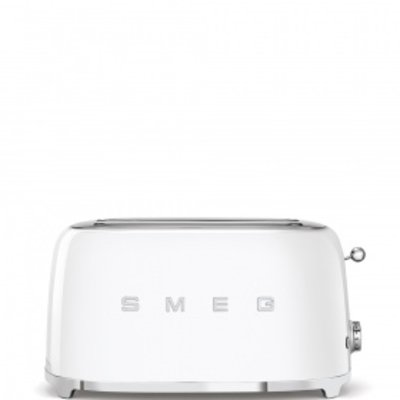 SMEG Toaster 4-Slot Long 50'S Style White