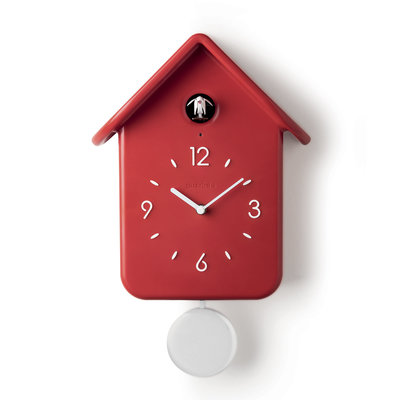 GUZZINI Qq Cuckoo Clock With Pendulum Red