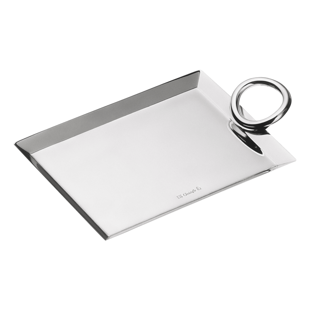 CHRISTOFLE Silver-Plated Business Card Tray