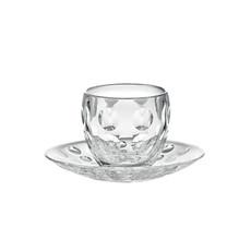GUZZINI Espresso Cups With Saucer Venice Transparent
