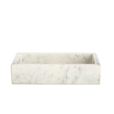 BELLE DE PROVENCE Small Marble Tray 6.75 x 3.75 x 1.5''