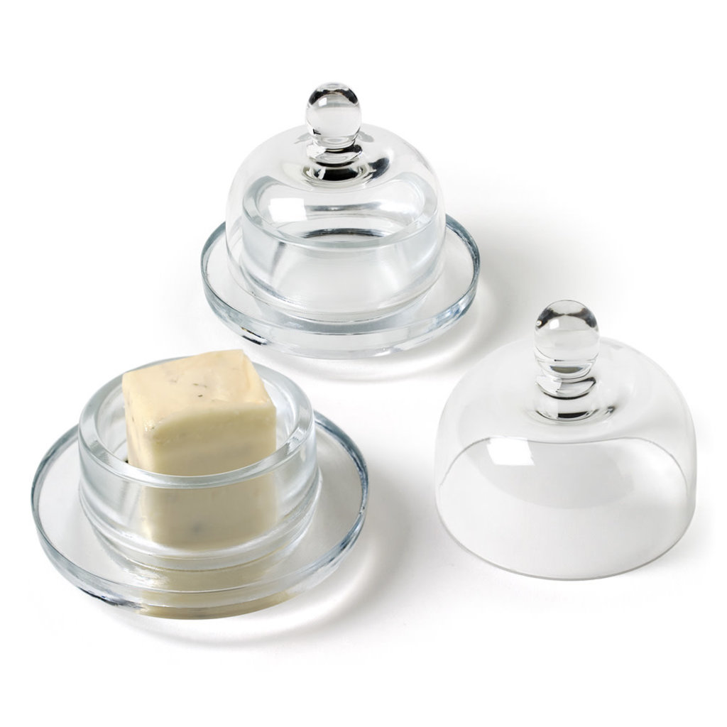 "ABBOTT 2Pc Sm Butterdish W / Dome-3 ""H"
