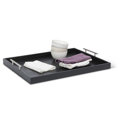 ABBOTT Xlg Rect Handled Tray-Black-18X24