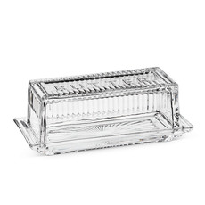 "ABBOTT Quarter Lb Butter Dish W/Cover-7""L"