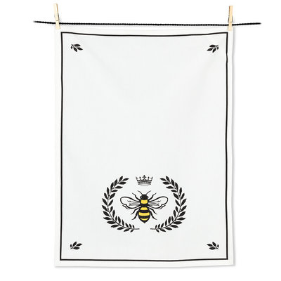 "ABBOTT Bee In Crest Tea Towel-20X28""L"
