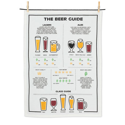"ABBOTT Beer Guide Tea Towel-20X28""L"
