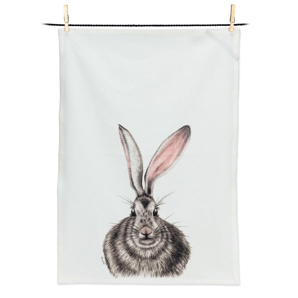 """ABBOTT Henrietta Rabbit Tea Towel-20X28""""L"""