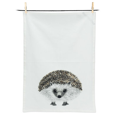 "ABBOTT Henry Hedgehog Tea Towel-20X28""L"