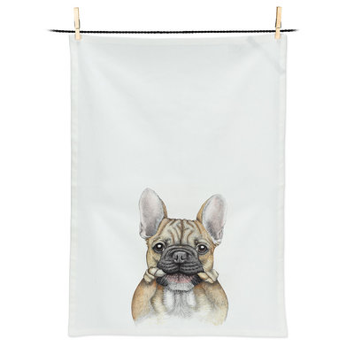 "ABBOTT Bruce Bulldog Tea Towel-20X28""L"