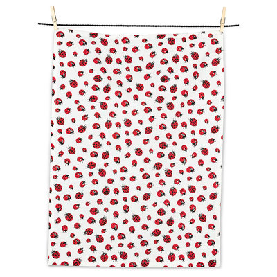 "ABBOTT Ladybugs Tea Towel-20X28""L"