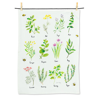 "ABBOTT 12 Herbs Tea Towel-20X28""L"