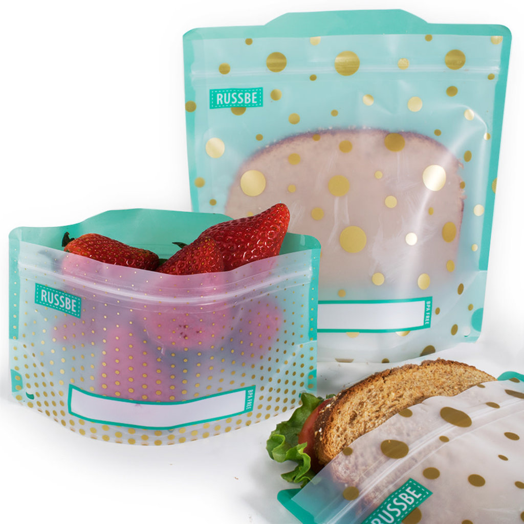 PORT-STYLE Snack/Sandwich Bags 4/St Teal