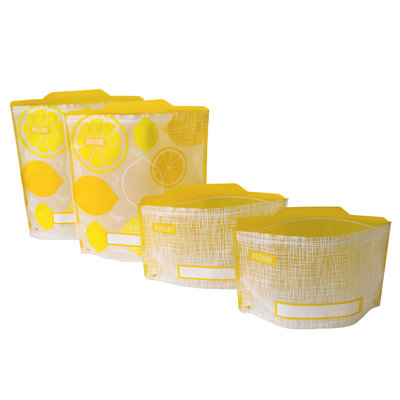 PORT-STYLE Snack/Sandwich Bags 4/St Yellow