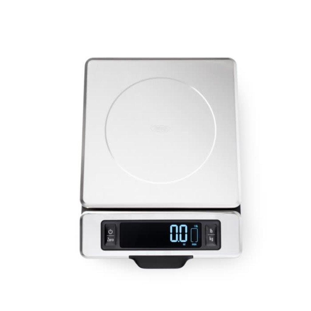 OXO Balance Digital en Acier Inoxydable Capacité de 5 kg