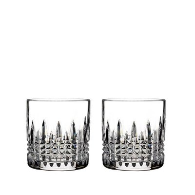 WATERFORD Lismore Connoisseur Straight Sided Tumbler 7 Oz Set/2