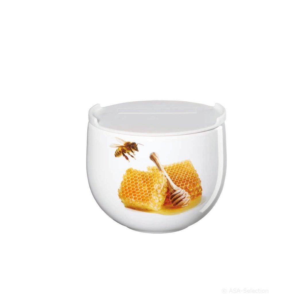 Honey Jar with Lid d. 9,5cm, h. 8cm