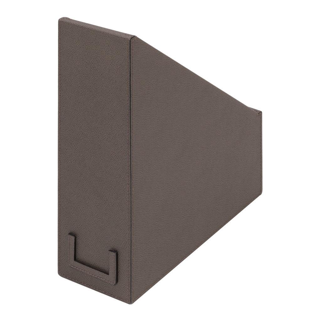 GIOBAGNARA Leather File Holder 26 x 10.5 x 31.5 cm Mud