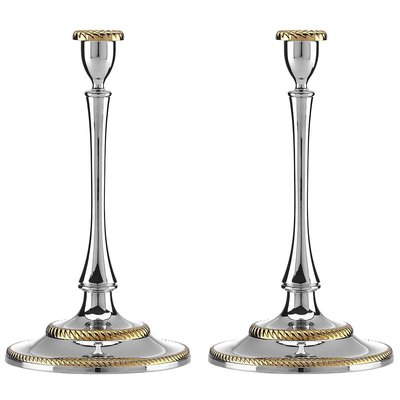 REED & BARTON Roseland Candlesticks Set of 2