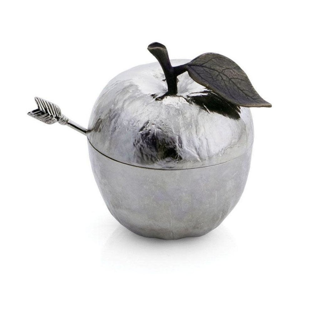 MICHAEL ARAM Pot de Miel Pomme avec Cuillère Nickel