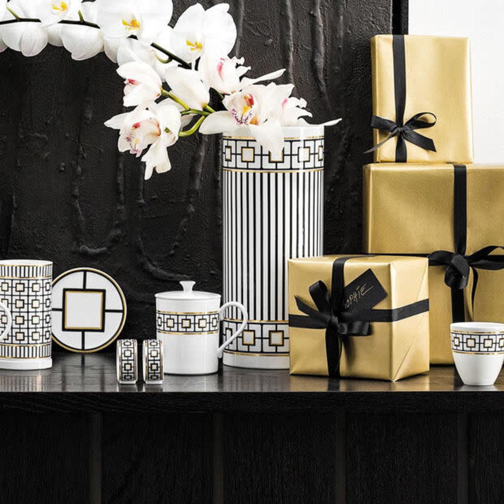VILLEROY & BOCH Metrochic Gifts Grande Vase Chaque 11.75 X 5''