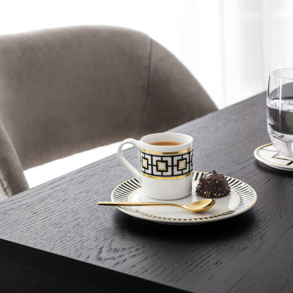 VILLEROY & BOCH Metrochic Soucoupe Tasse À Espresso Chaque 5.75''