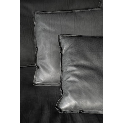 BAXTER Budapest Soft Cushion Leather Kashmir Plomb 60 x 60''