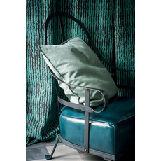 BAXTER Chassis Iron Armchair one Backcushion Include Seat Pelle River Nilo