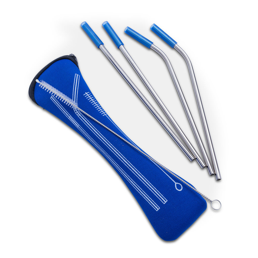 "ABBOTT Set 4 Straws & Brush In Pouch 9""L"