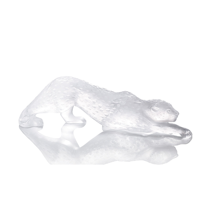 LALIQUE Zeila Panther Figure Clear