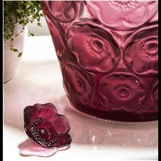 LALIQUE Anemone Sculpture Petit Format Rouge