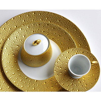 BERNARDAUD Ecume Gold Dinnerware Collection