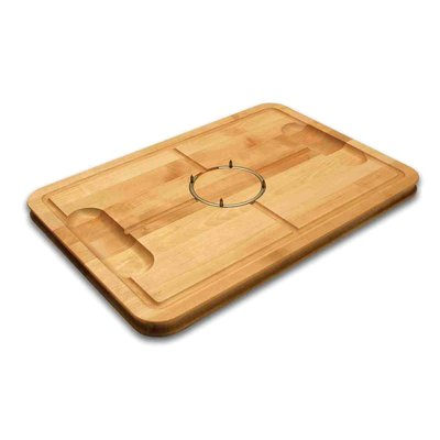 Maple Gripper Carving Board W/Stainless Steel Ring & Juice Well