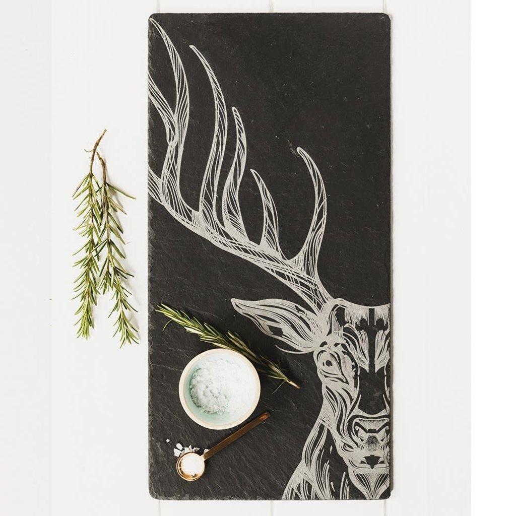 Engraved Stag Slate Table Runner