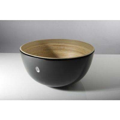 "BIBOL Bamboo Salad Bowl - ""Tchon"" Glossy Medium/Black"