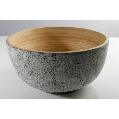 "BIBOL Bamboo Salad Bowl - ""Tchon"" Matte Extra Large/Eggshell"