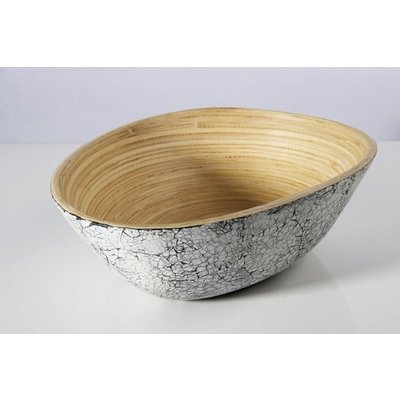 "BIBOL Bamboo Serving Bowl - ""Soai"" Matte Colors Large/Eggshell"