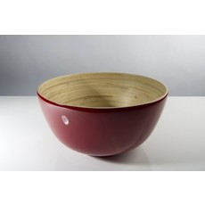 "BIBOL Bamboo Salad Bowl - ""Tchon"" Glossy Colors Large/Red"