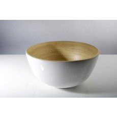 "BIBOL Bamboo Salad Bowl - ""Tchon"" Glossy Colors Large/White"