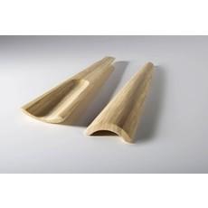 """BIBOL Bamboo Servers - """"Tia"""" Matte Colors Medium/Natural"""