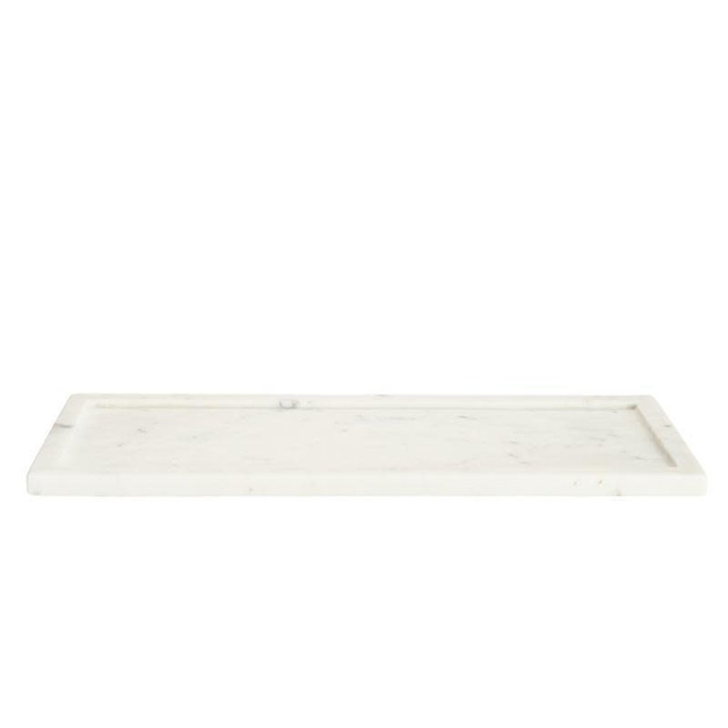 BELLE DE PROVENCE Long Marble Display Tray 17 x 6.5 x 0.5''