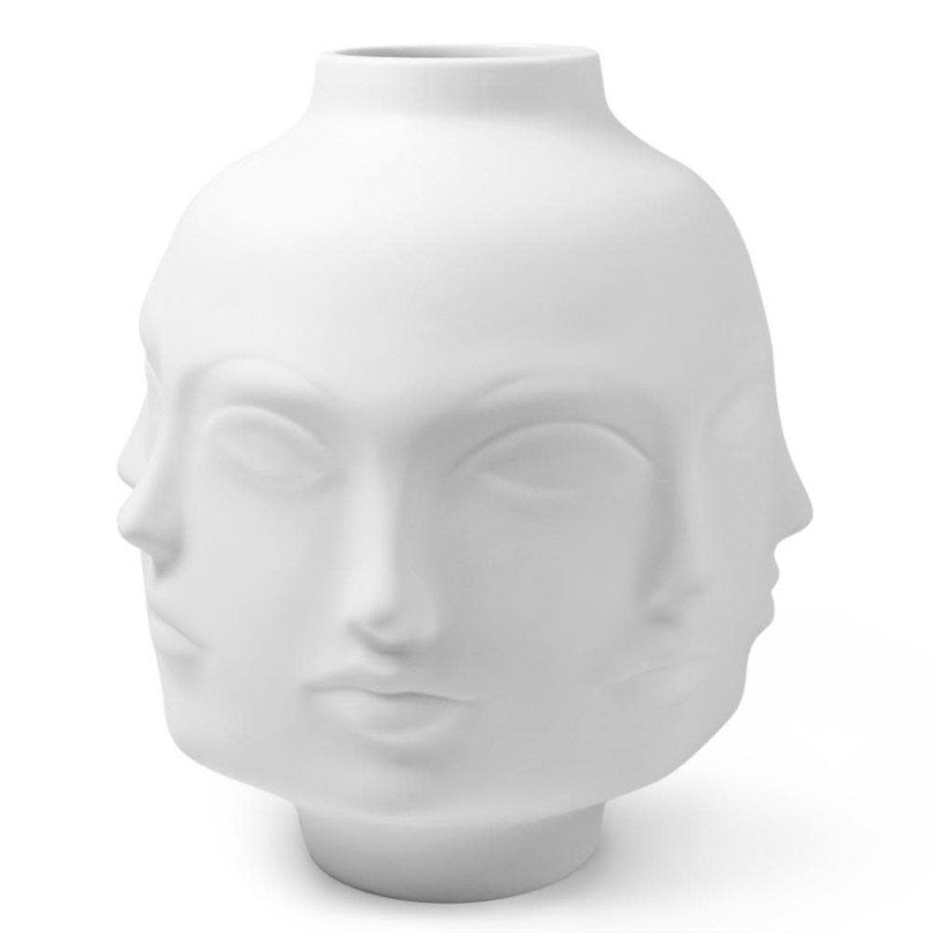 """JONATHAN ADLER Muse Giant Dora Maar Vase White 11.5 x 11.5"""""""