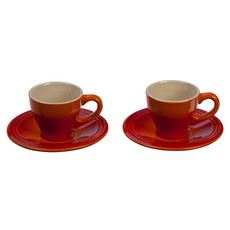 LE CREUSET Classique Ensemble de Tasse à Espresso et Soucoupe