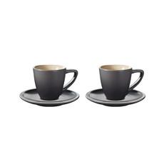 LE CREUSET Minimalist Espresso Cup & Saucer Set