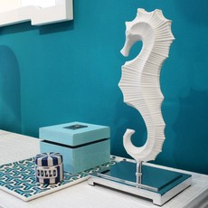 JONATHAN ADLER Menagerie Seahorse Sculpture - White