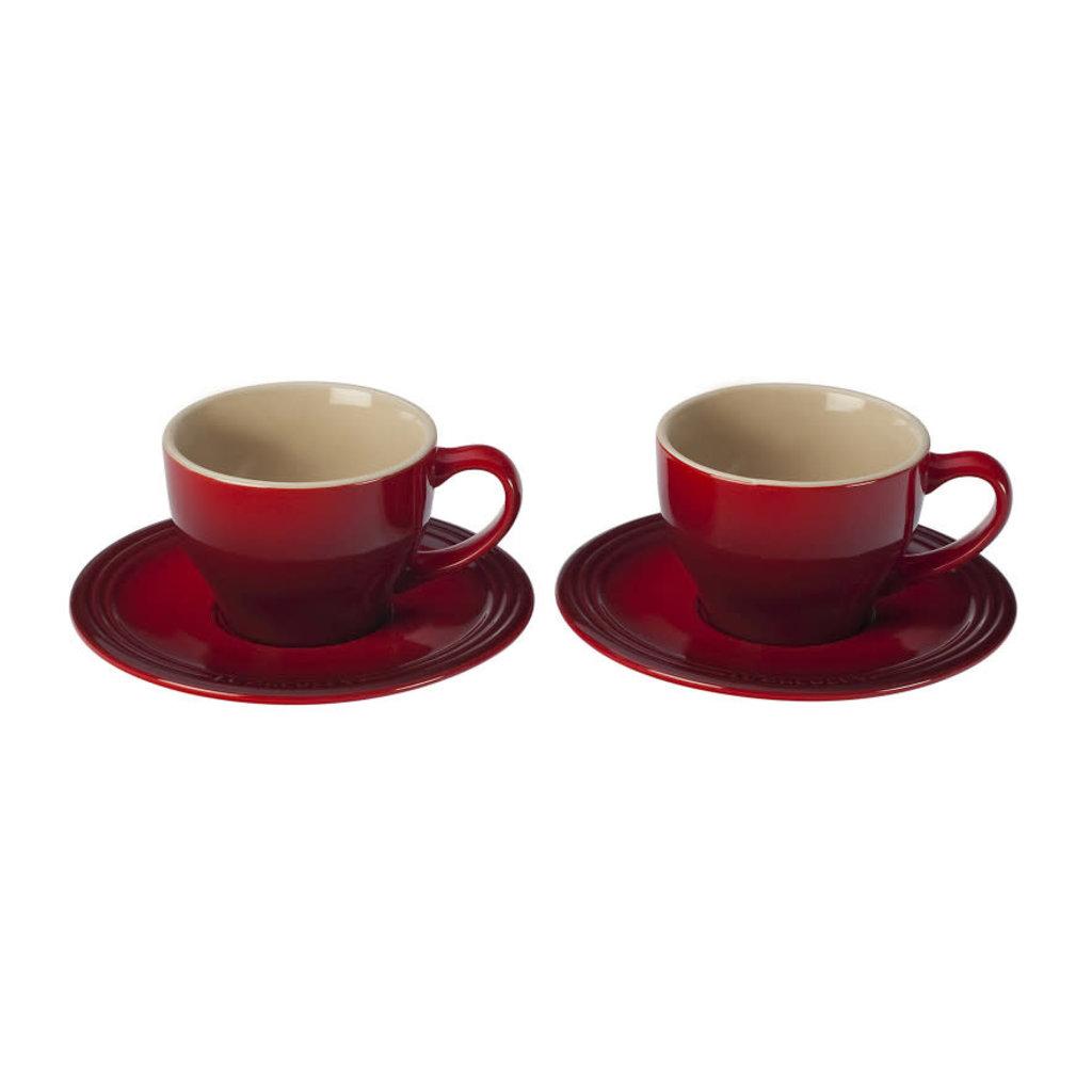 LE CREUSET Classique 0.2L Ensemble de Tasse et Soucoupe Cappuccino