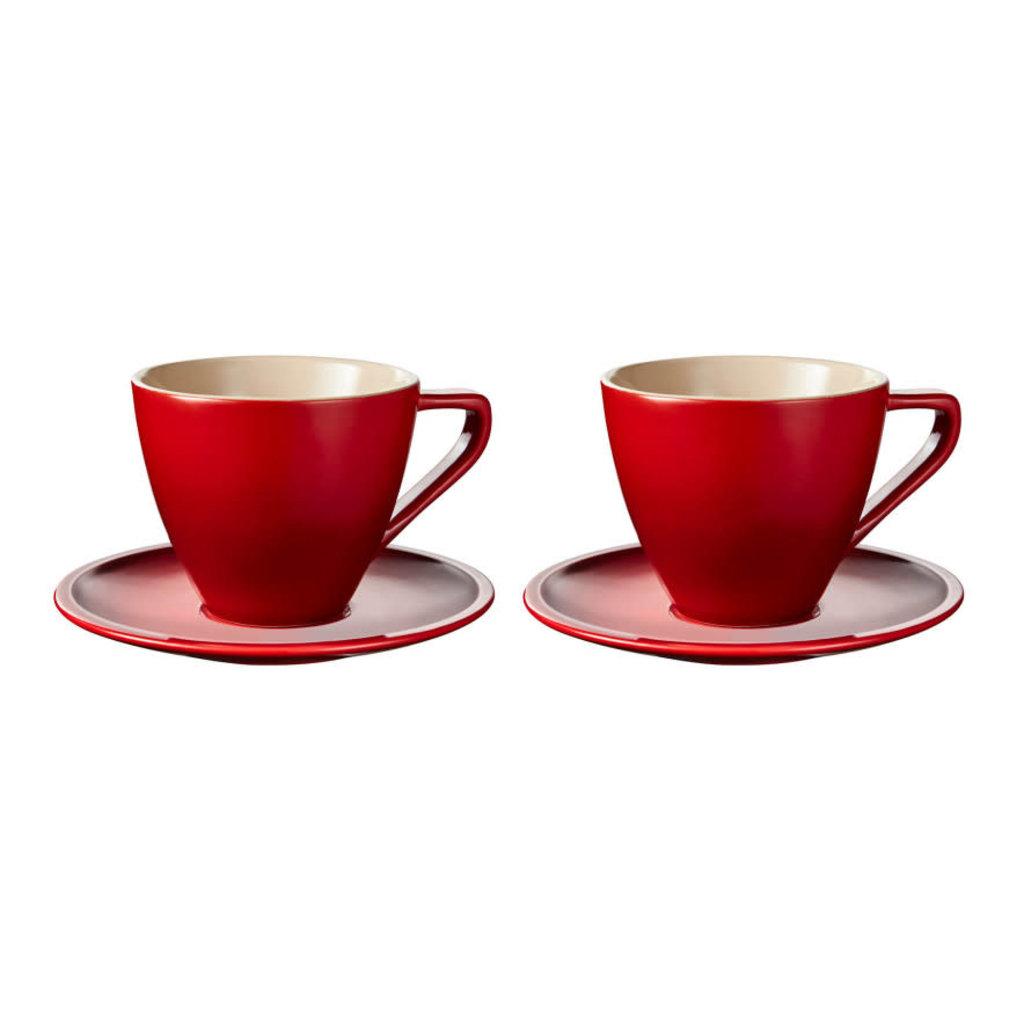 LE CREUSET Minimaliste Ensemble de Tasse et Soucoupe Cappuccino