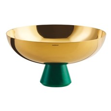 SAMBONET Madame Footed Cup PVD Gold/Resin, Green Malachite