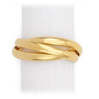 Three-Ring Napkin Jewels Gold Set/4