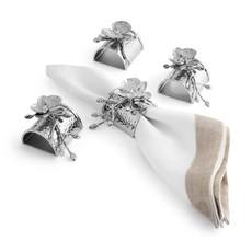 MICHAEL ARAM White Orchid Napkin Ring Set of 4