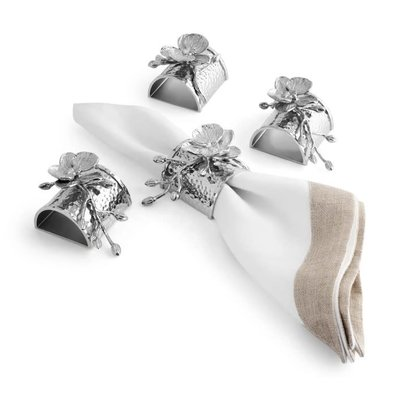 MICHAEL ARAM White Orchid Napkin Ring Set of 4